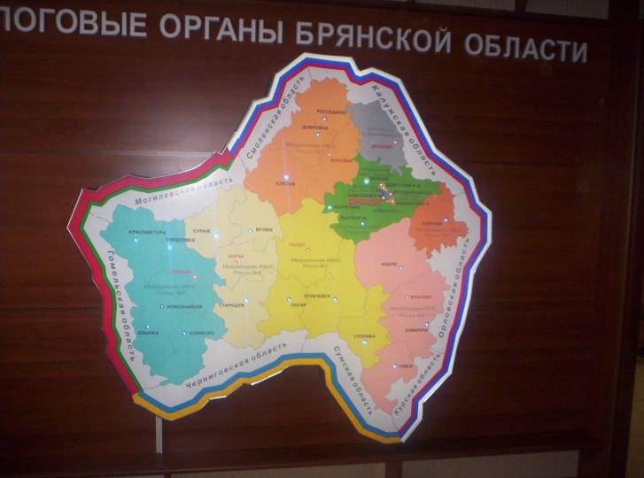 Карта. Световой короб с светодиодами и панелью управления